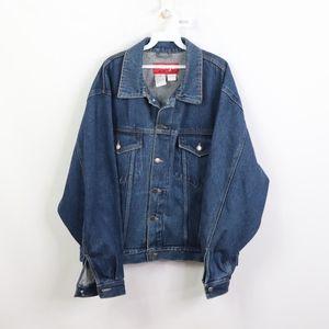 Vintage Wrangler Mens XL Denim Trucker Jacket Blue